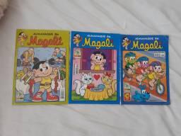 3 revistas em quadrinhos da turma da Mônica