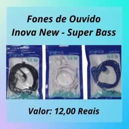 Fones de Ouvido Inova New Super Bass