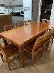 Título do anúncio: Mesa sala de jantar madeira demolição