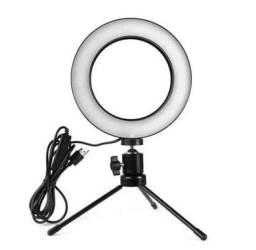 Título do anúncio: Ring Light  profissional Iluminador  Pequena Tripé 6 Polegada 16cm