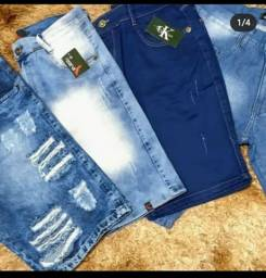Bermuda jeans e moletom