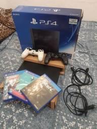PS4 500GB NOVO Completo