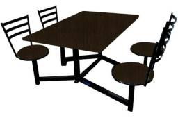 Mesa Conjugada Fixa para Refeitórios, Restaurantes, Cozinha Industrial e Lanchonetes