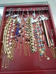 Bandejas para brinco pulseiras anéis e correntes