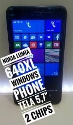 Nokia 640xL tela Grande