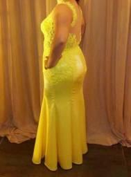 Vestido Festa Amarelo(Alta Costura)