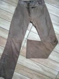Calça de couro legítimo