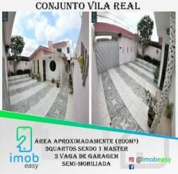 Casa no Conj Vila Real, 3 quartos sendo 1 suíte master (semi-mobiliado)