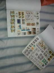 Coleção de mais 2000Selos de cartas nacional e de outros países