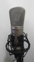 Microfon b1 behringer condensador, com case, pedestal e suporte R$500