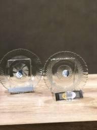 Promoção prato de vidro