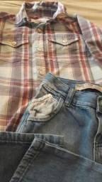 Conjunto / ou Blusa social e Calça Jeans