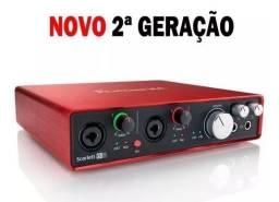 Kit Placa de Audio + 1 Microfone condensador + Mic Arcano A57