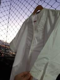 Camisa branca longa algodão Afghan P