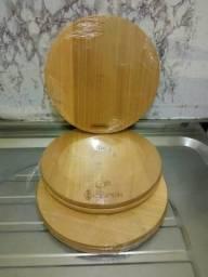 Petisqueira Tramontina madeira nova 10,00 cada