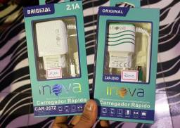 Carregadores de Celular 2.1A e 3.1A inova