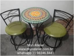 Conjunto de mesa mosaico