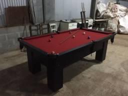 Mesa Charme e Jantar Cor Preta Tecido Bordô Mod. ARBX5461