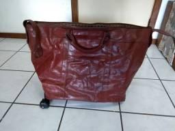 Bolsa de couro  com carrinho adapto