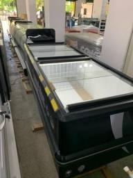 Ilha para produtos congelados ou resfriados/ tamanho 2,00m com iluminação em led interna