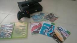 Xbox 360 desbloqueado com controle+pilhas e um kinet+ 9 jogos