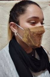 Máscaras Customizadas paetê Strass Pérolas no atacado