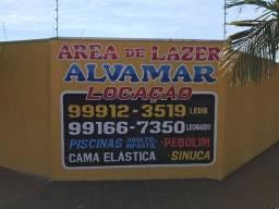 Área de Lazer para locação - Alvamar 9  * Leonardo ou 9  *