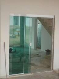 Porta de vidro, janela e box