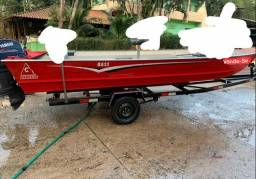 Título do anúncio: Barco bass 2020 motor 25hp yamaha + carreta