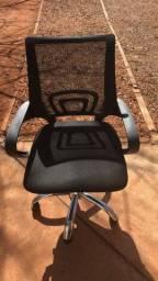 Título do anúncio: Cadeira De Escritório Com Base Cromada - Leia a Descrição