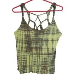 Título do anúncio: Blusa Skunk Feminina Original Verde Estampada Tamanho M