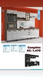 Título do anúncio: Armário para cozinha grande com lugar pada forno com 3 gavetas todo completo