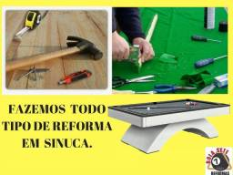 Título do anúncio: Reformas De Sinucas, bilhar, Totó, Ping Pong