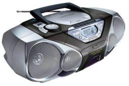 Rádio gravador com CD alta potência philips