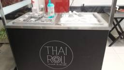 Maquina sorvete chapa tailandesa