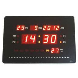 Relógio De Mesa Ou Parede Digital Led Data Temperatura