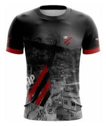 Camiseta Club Athletico (Atlético) Paranaense Preto Masculino Favela Futebol