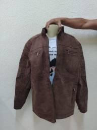 jaqueta top de couro legitimo