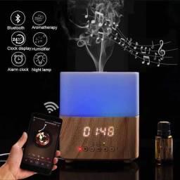 Título do anúncio: Difusor, purificador e umidificador de ar c/som Bluetooth