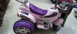 Título do anúncio: Moto Elétrica Infantil Sprint Turbo Pink 12v - Biemme