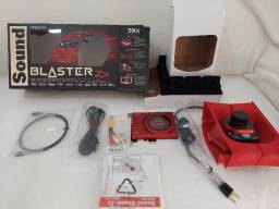 Título do anúncio: Placa de Som Creative Sound Blaster Zx - A Braba !