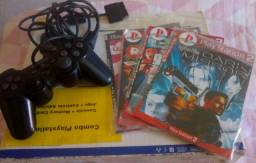 Controle Original PS2 e Joystick para Celular