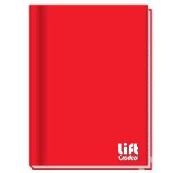 Caderno 1/4 48 folhas Marca Credeal. KIT COM 5 UNIDADES COR VERMELHO