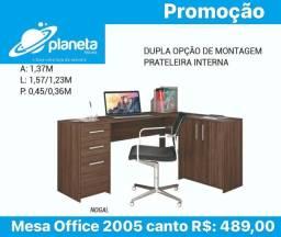 Mesa Office canto c/gavetas Promoção