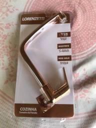Título do anúncio: Torneira Cozinha Parede / Rose Gold