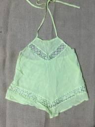 Blusa lenço verde