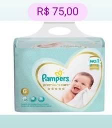 Título do anúncio: Fraldas Pampers Premium Care G/68 Fraldas ou XG/60 Fraldas