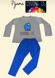 Pijama Amang Us infantil manga longa