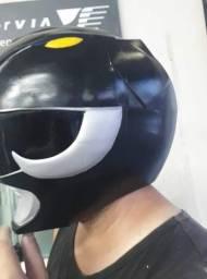 Cosplay Hunter + Mortal Kombat + capacete Powe Ranger e acessórios