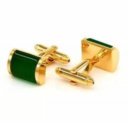 Abotuaduras de Luxo Metal Dourada V/Modelos